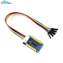 Waveshare MCP23017 IO Expansion Board 6pin Cable I2C Interface Expands 16 I/O Pins for Raspberry Pi/Micro:bit/Arduino/STM32 k521 16dx expansion i o module16di dc24v new