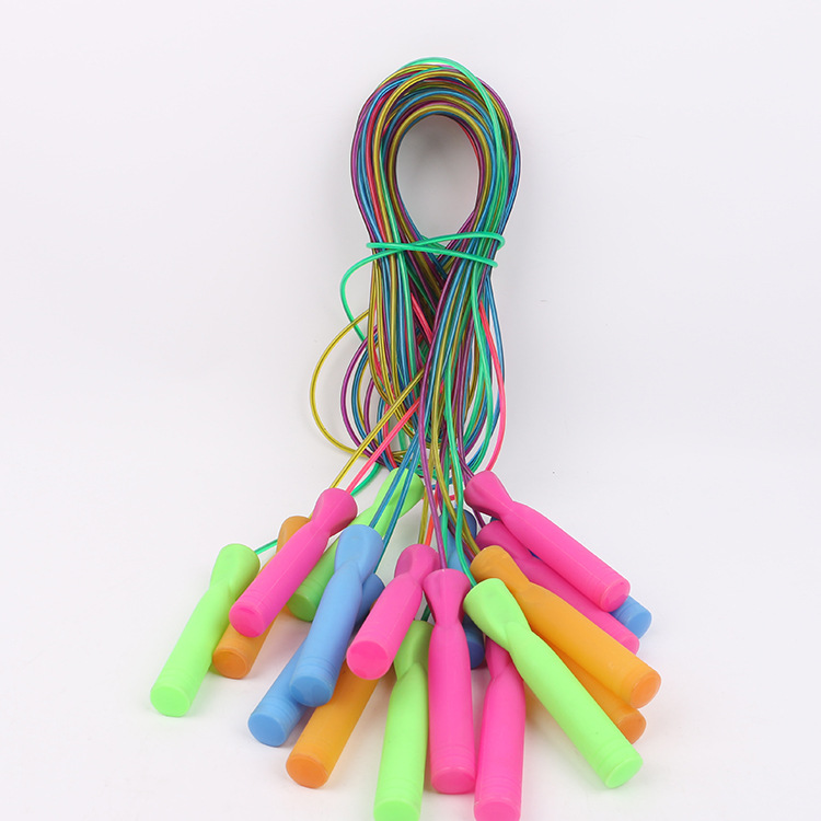 Manufacturers Direct Selling Bearing Steel Wire Jump Rope   Primary School STUDENT'S Game Only Color Rope Adult Fitness Training