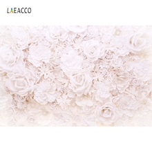 Laeacco Pure Blooming Flowers Wall Scene Photography Backgrounds Vinyl Customs Camera Photographic Backdrops For Photo Studio