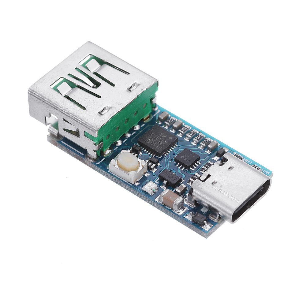 WEB-UPD005 PD DC Decoy Detection PD2.0 3.0 Fast Charge Board With TYPE-C Female Base Supports E-Marker Line