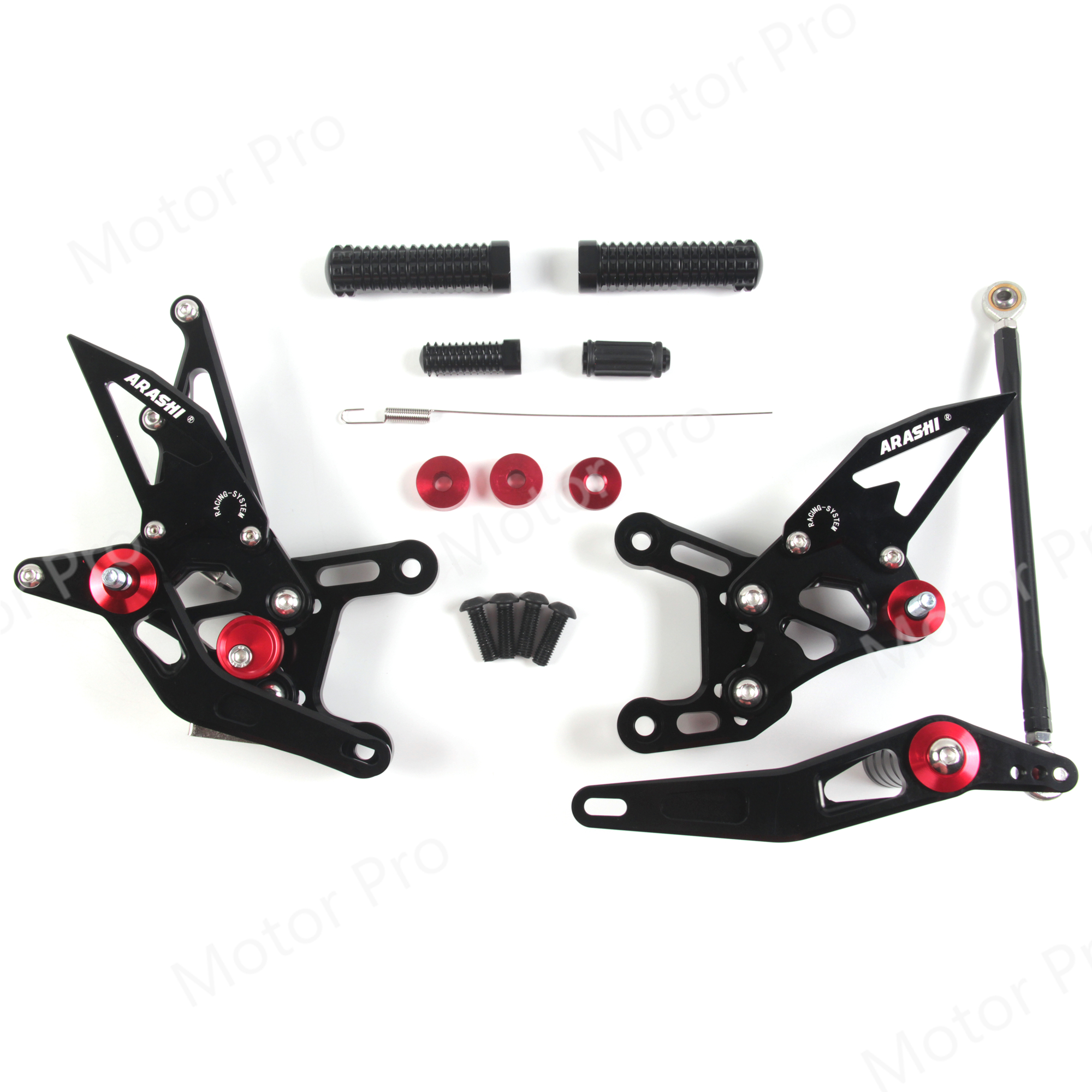 Adjustable Footrests For Yamaha YZF R1 2009   2014 YZF R1 Motorcycle Accessories Foot Rest Peg Rearset Pedal 2010 2011 2012 2013-in Foot Rests from Automobiles & Motorcycles    1