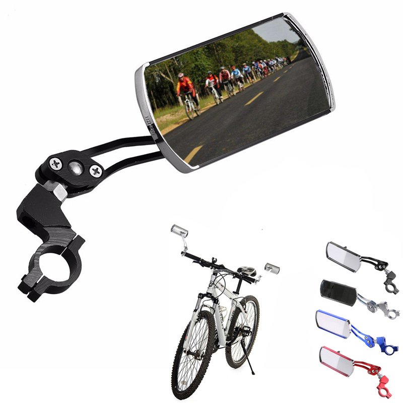 Bicycle Rearview Handlebar Mirrors Cycling Rear 360° Flexible Blind Spot Mirror Safety MTB Bike Silicone Handle Rearview Mirror