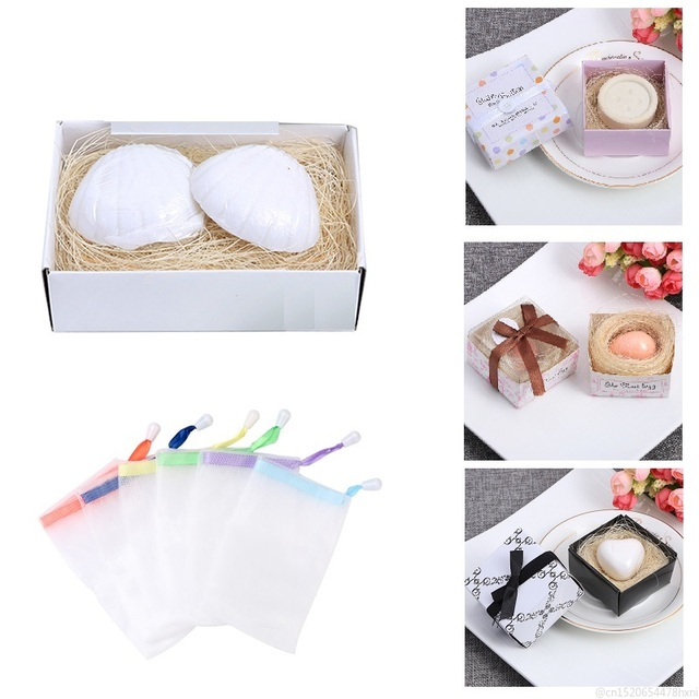 14 Styles Mini Cute Handmade Soap with Box Hand Face Cleansing Shampoo Bath and Body Soaps for Wedding Gift Foaming Net TSLM1