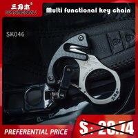SANRENMU SK046 TC4 Multi-Funktionale Schlüssel Kette/Schnalle Edc Outdoor Camping Überleben Werkzeuge Auto Rettungs Glas Breaker Multi werkzeuge