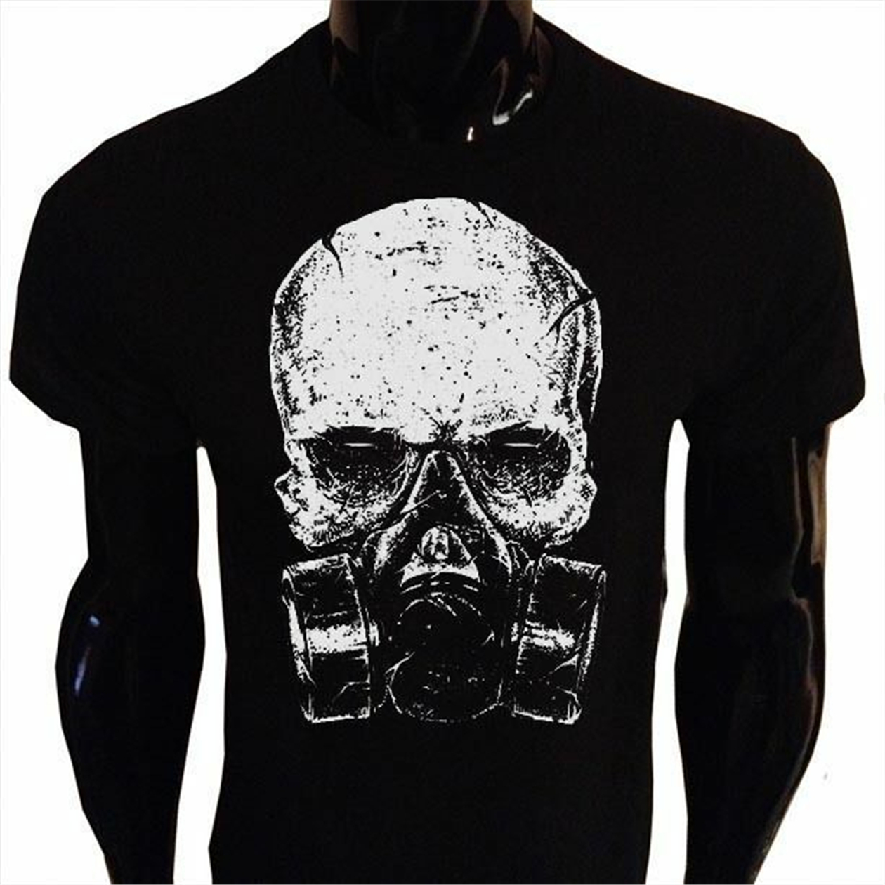 Sleeveless Tanks Top Shirts Fit Mens Skull with A Gas Mask