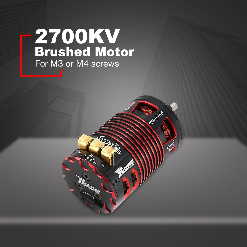 Rocket 4268 2700KV Brushless Sensored Motor 4 Pole RC Car Motor For 1/8 Electric on road Car Parts