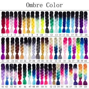 Smart Braid 100g 24 Inch Synthetic Braiding Hair Wholesale Ombre Multiple color mixing Hair Braids Jumbo Synthetic Hair pigtails