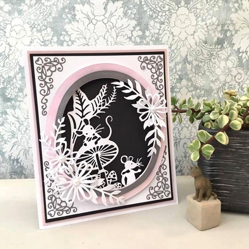 Mouse Edger Metal Cutting Dies Scrapbooking DIY Card Album Embossing Stencil
