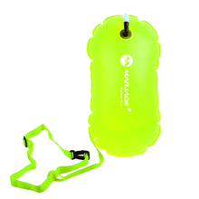 Highly Visible Waterproof PVC Swim Buoy Tow Float Air Bag Inflatable Swimming Bag with Safety Float Waist Belt