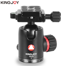 """Buy KINGJOY Official GH20 Tripod Ball Head Rotating Panoramic BallHead with plate 1/4"""" to 3/8"""" Screw for Monopod DSLR Camera directly from merchant!"""