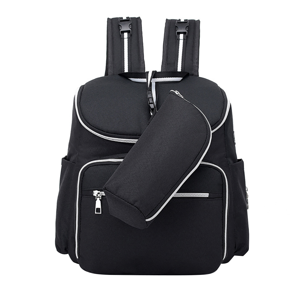 Maternity Earphone Port Nappy Solid Food Travel Backpack Outdoor Baby Nursing Mummy Multi Pocket Fashion Diaper Bag