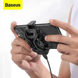 Baseus Mobile Phone Cooler Universal Gaming Mobile Cooling Fan Cell Phone Digital Display Radiator For iPhone 11 Samsung Xiaomi