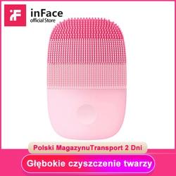 Inface elétrica sonic escova de limpeza facial vibração rosto cleaner ipx7 à prova dwaterproof água recarregável massagem rosto lavagem escova