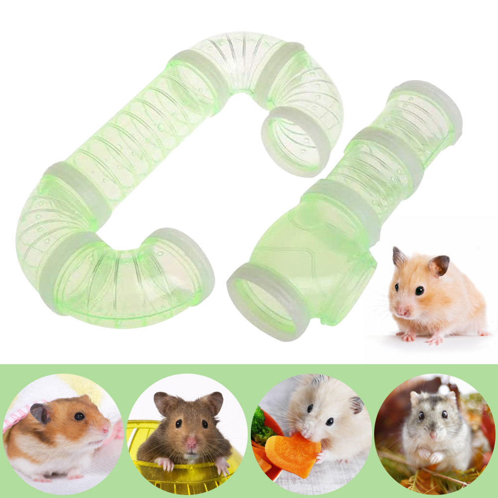 Plastic Training Playing Tools External Tunnel Hamster Toys Multifunctional Hamster Cage Accessories Hamster Pipeline 8pcs Set