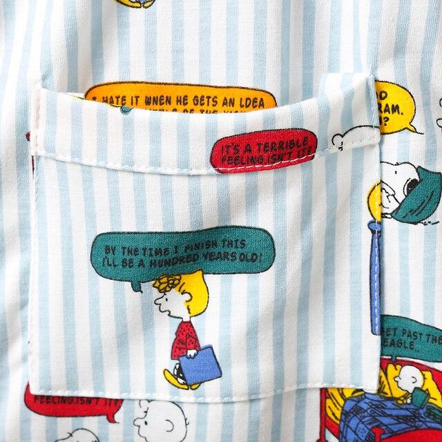 Caiyier Stripe Cute Print Pajamas Set Cotton Short Sleeve Sleepwear With Eye Mask Casual Nightwear Ladies Korean Pijama Mujer 5
