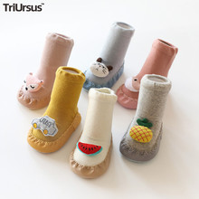 TRIURSUS Brand Desiger Baby Boys Girls Foot Socks Shoes Cartoon Cute Baby First Walkers For Spring Autumn