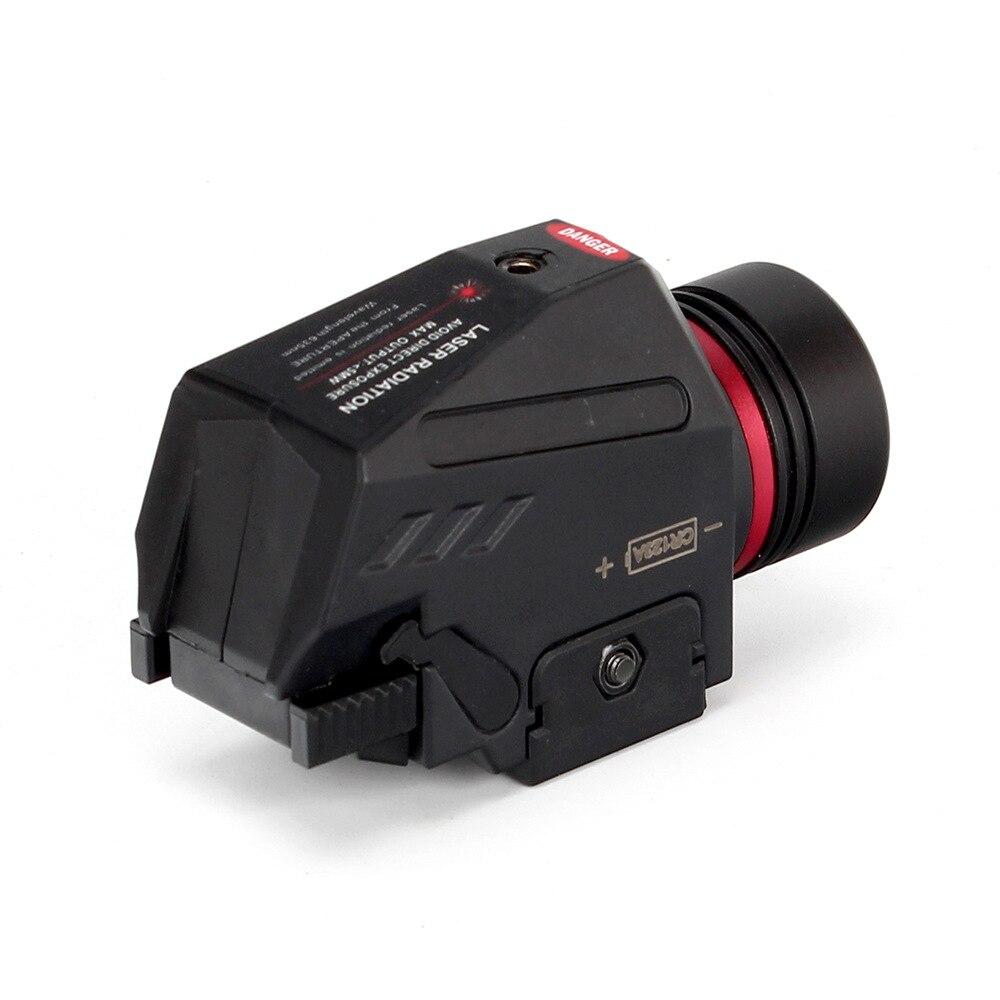 Tactical LED Weapon Gen Light Flashlight Red Dot Laser Sight Military Airsoft Pistol Gun Light for 20mm Rail Mini Pistol Gen-3