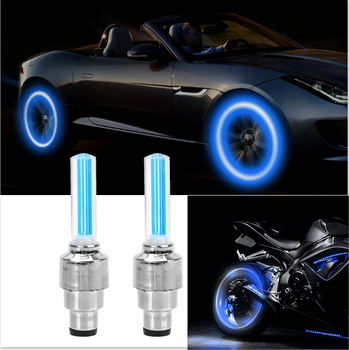 2PCS Car Wheel LED Light Motocycle Bike Tyre Valve Cap Light For Toyota Camry Avensis Aygo Belta Blade Brevis Caldina Cami image