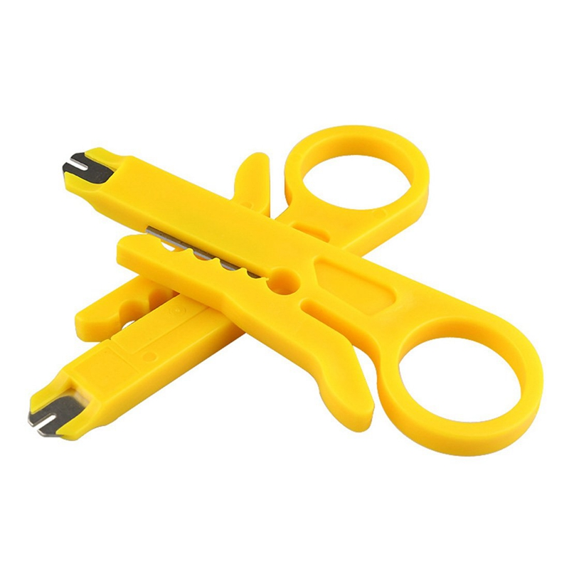 100Pcs/Lot Network Cable Cutter Stripper Plier Punch Down Hand Tools Mini Portable Simple Data Cable Wire Plier