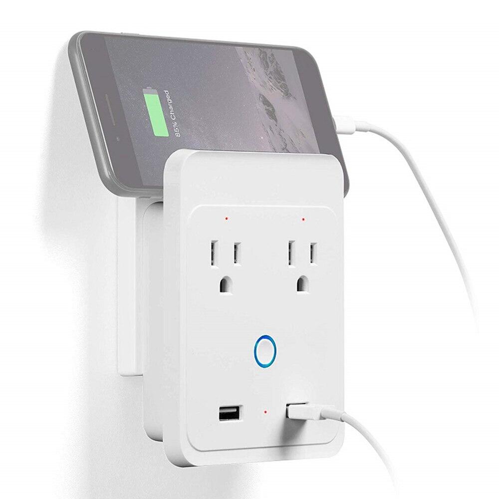 10A Smart Wi-Fi prises murales contrôle indépendant commande vocale Compatible maison APP télécommande intelligente prise de courant intégrée