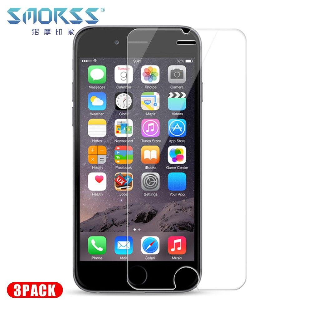 Verre trempé 3 pièces pour iPhone 8 8plus 7 7plus 6s 6splus 6 6plus verre Anti-lumière bleue 3 pack lot verre protecteur d'écran