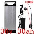 36В батарея eBike 36В 30ач 10С батарея для электрического велосипеда 1000 Вт 36В 30ач задняя стойка литиевая батарея для samsung/panasonic/LG cell