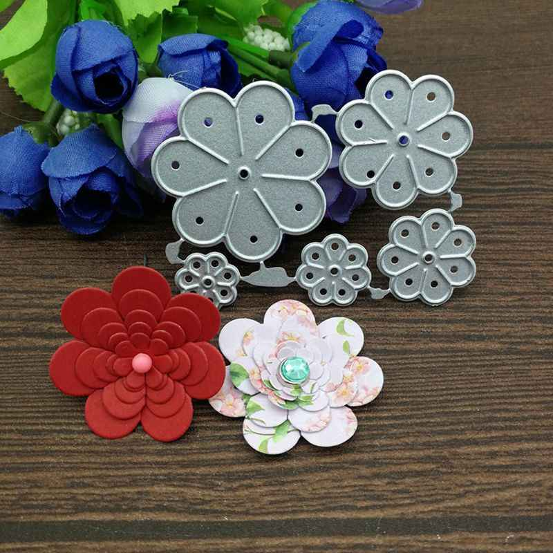 Key Ring Craft Punch 1cm FLOWER Card Making Embelishments