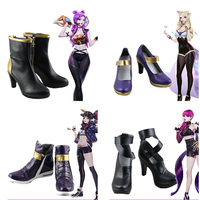 CostumeBuy LOL KDA Ahri Akali Kaisa Evelynn Cosplay Shoes Costume Props Halloween Cosplay Accessories Custom Made Any size
