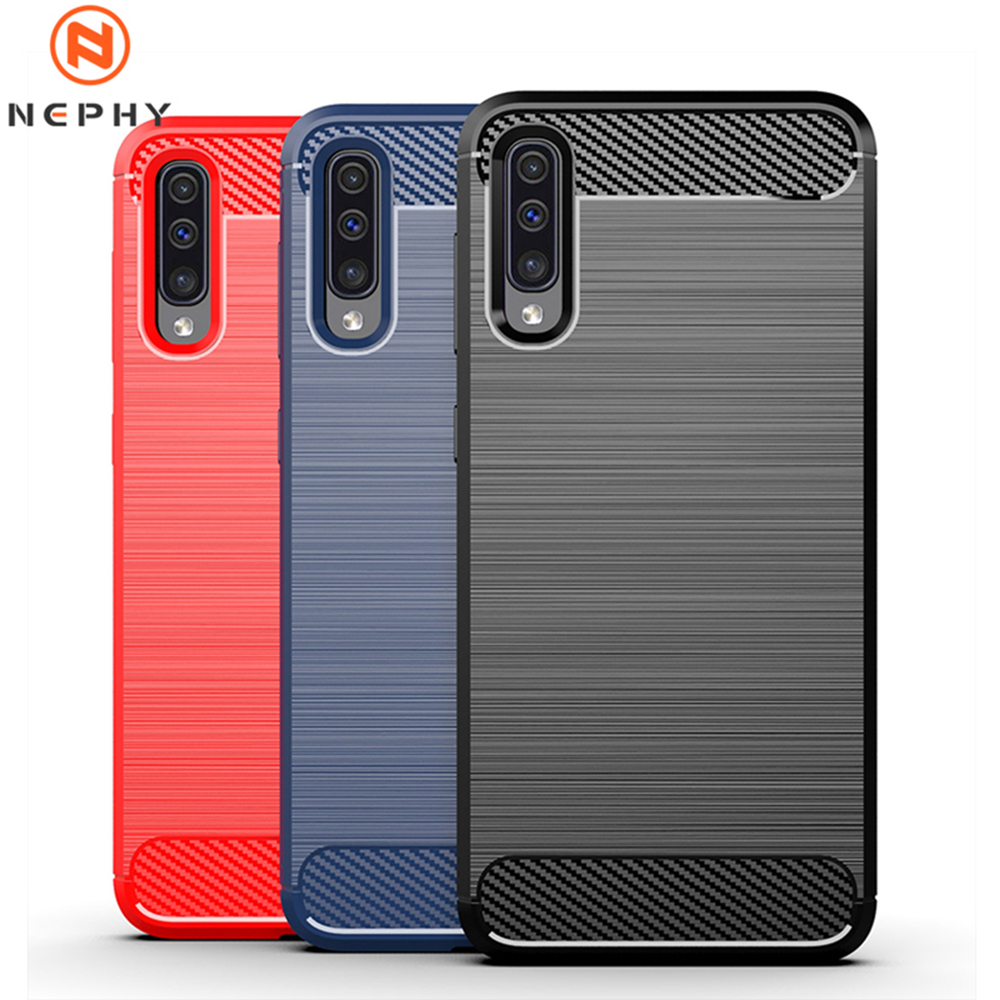 Carbon Fiber Soft Case For Samsung Galaxy A10 A20 A20E A30 A40 A50 A70 S8 S9 S10 Plus Note 8 9 10 Mobile Phone Cover Shockproof
