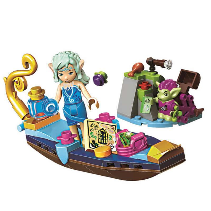 10692 elfler Naida erkek gondol ve Goblin hırsız yapı taşları çocuklar tuğla oyuncaklar hediye ile uyumlu LEPINING 41181