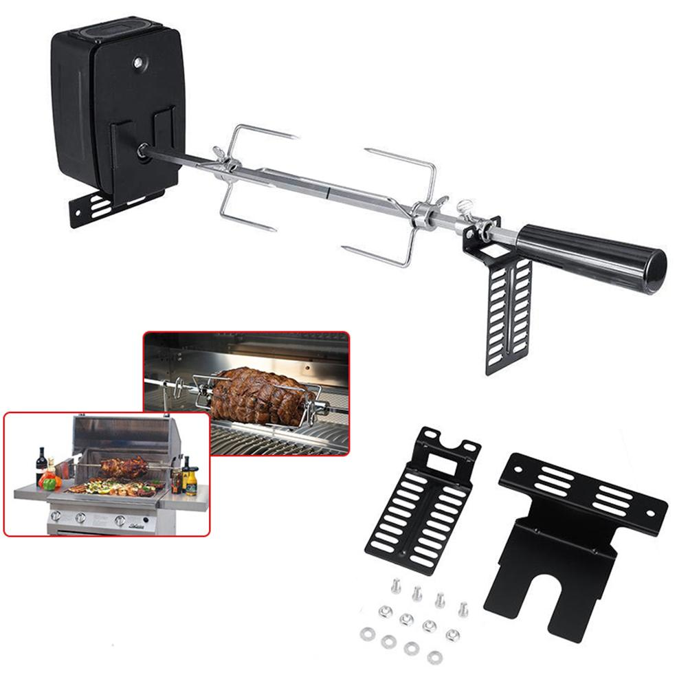 C1 Ordinary Type Grilling Rod Stainless Steel Motor Bracket Electric Grill Motor Bracket Outdoor Camping BBQ Tools Accessories