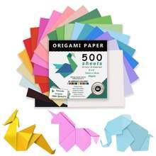 500 шт квадратная бумага Оригами одноцветная цветная для творчества