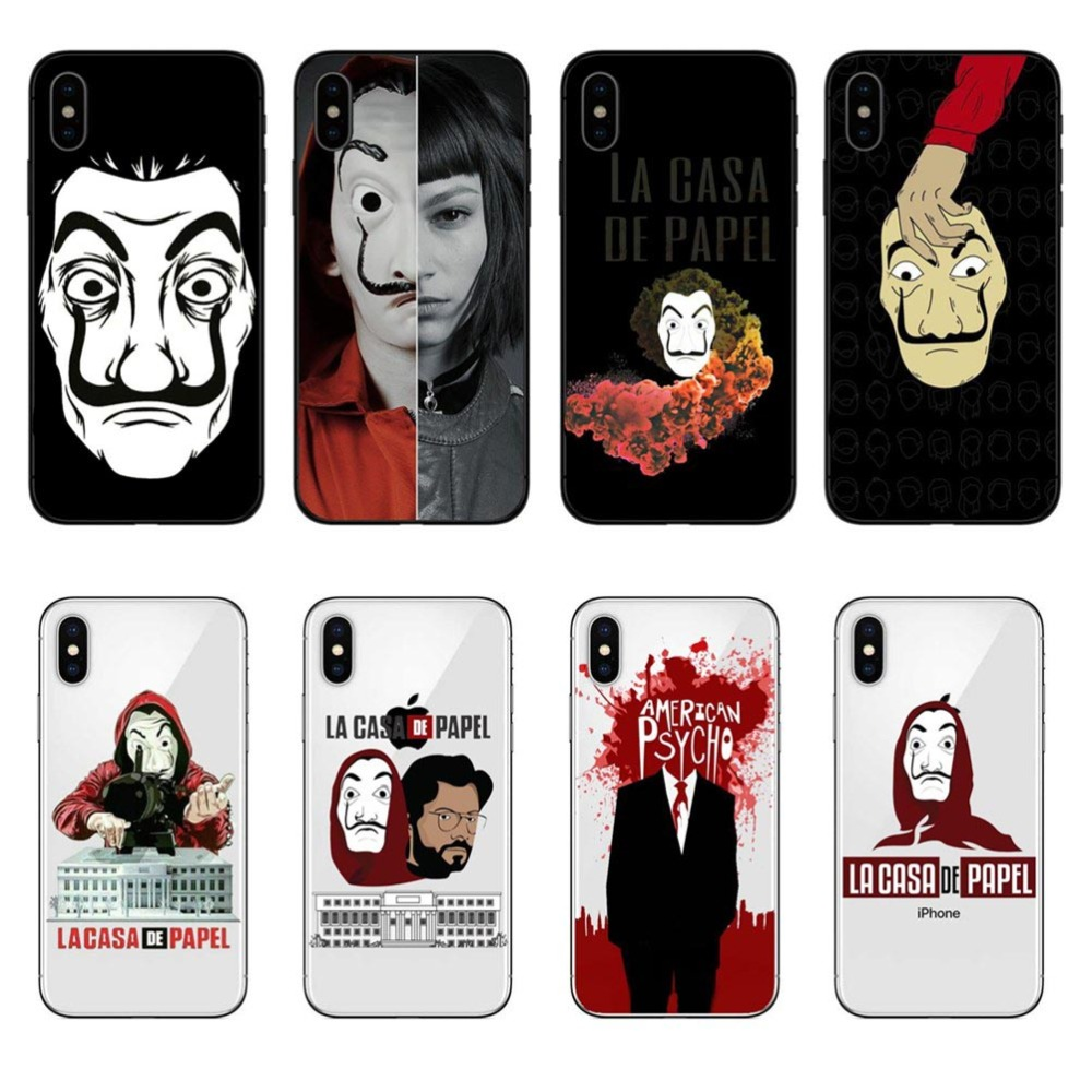 TV series Money Heist House of Paper Phone case for iphone 7 6 8 6s plus soft back cover coque for iphone X XR XS MAX fundas image