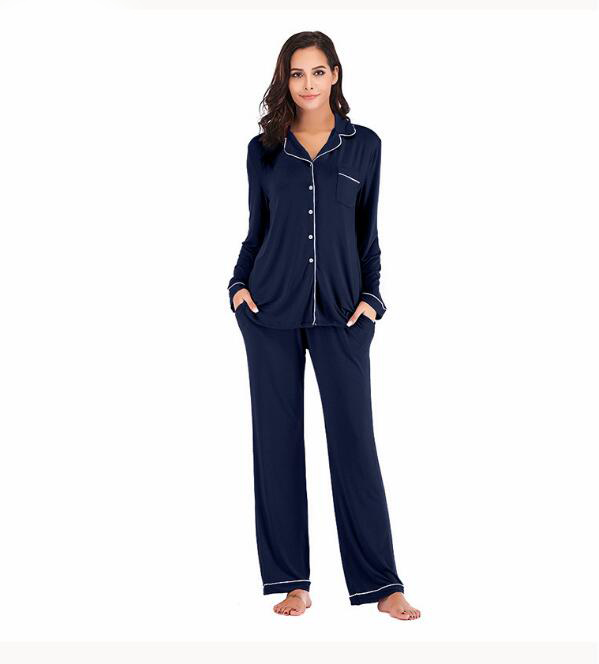 Image 3 - Winter Pajama Sets 2 Pieces Women Lounge Suit Velvet Elastic Long Sleeves Stretch Sleepwear Pants Tops Satin Plus Size ouc041-in Pajama Sets from Underwear & Sleepwears