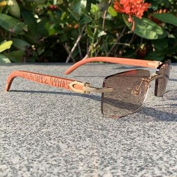 Wood Sunglasses Men Carved Vintage Luxury Carter Sunglass Shades for Women Designer High Quality Accessories Gafas De Sol