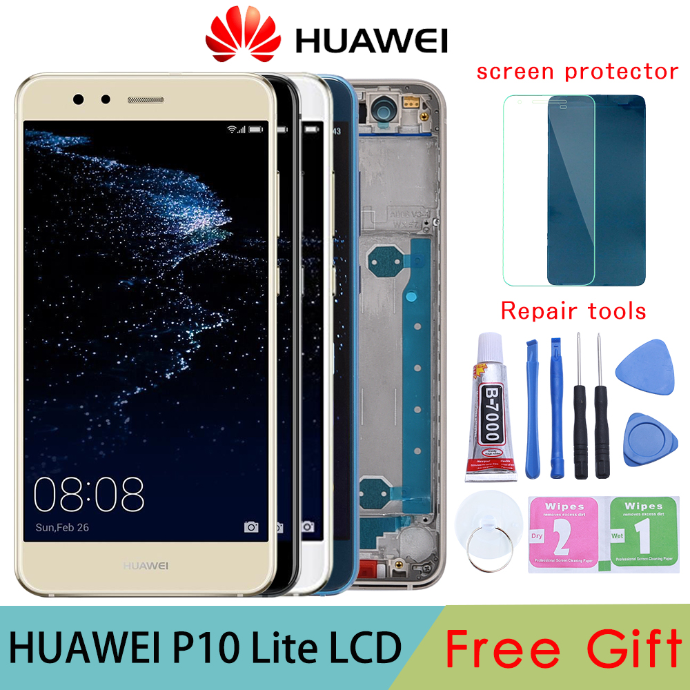 5.2 Inch Orignal LCD With Frame For HUAWEI P10 Lite Lcd Display Screen For HUAWEI P10 Lite WAS-LX1 WAS-LX1A WAS-LX2 WAS-LX3