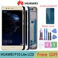Оригинальный ЖК-дисплей для Huawei P10 Lite, с рамкой/без рамки