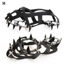 Buy Ice Climbing Manganese Steel 18 Teeths Spike Outdoor Durable Mountaineering Anti-slip Shoe Cover Footboard directly from merchant!