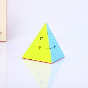 Qiyi 3*3*3 Qiming Пирамида скоростной магический куб профессиональный магический куб Пазлы красочные Развивающие игрушки для детей