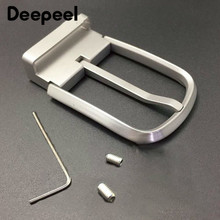 Deepeel1pc 36mm Men's Pure Titanium Belt Buckle Anti-allergic Pin for 34-35mm Business AccessoriesYK206