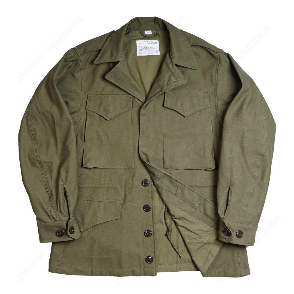 WW2 abd askeri ordu yeşil M43 ceket ceket açık ceket