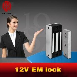 Image 5 - Takagism game prop, Real life room escape props jxkj 1987 12v EM lock installed on the door  electromagnetic lock