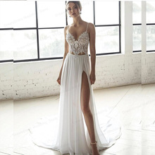 Wedding-Dress Bridal-Gowns Two-Pieces Bohemian 2-A-Line Sleeveless Simple Beach Sweetheart