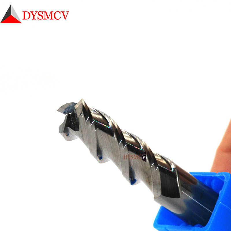 כרסום חותך סגסוגת ציפוי טונגסטן פלדת כלי על ידי אלומיניום Cnc Maching 3 להב Endmills למעלה כרסום חותך עץ כרסום קאטר