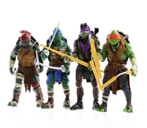 12CM God Turtle Ninjas Tortoise Figure Action Cartoon Turtle Figures Action Movable Doll Kids Figures Model Turtles Toys