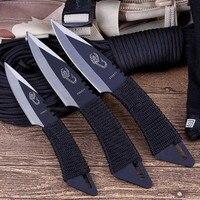 Faca tática fixa de bolso com bainha  3 peças  jogar  sobrevivência  caça ao ar livre  acampamento  ferramentas de faca