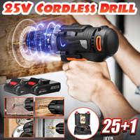 48 Nm Dual Speed Mini Brushless Cordless Electric Impact Drill Hammer Screwdriver LED Lighting Li-ion Battery Power Tools