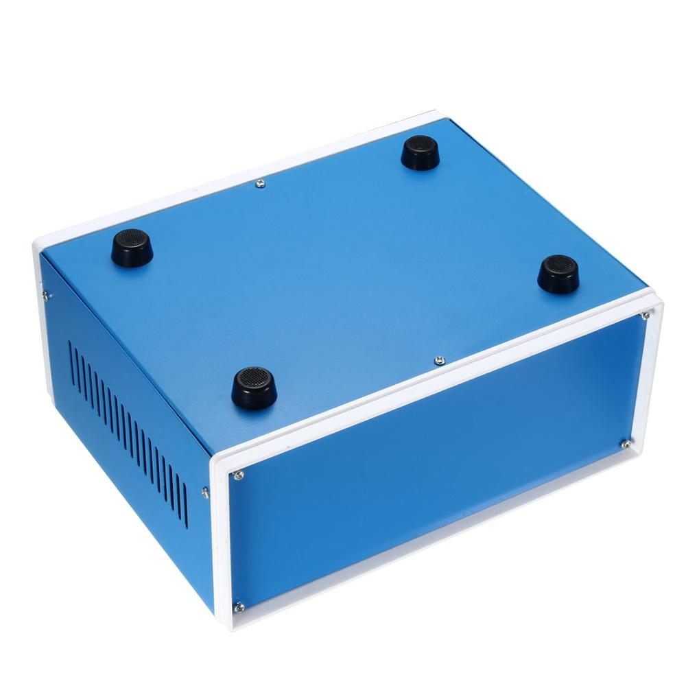 cheapest uxcell Waterproof Enclosure Box Cover Electronic Project DIY Outdoor Junction Box Housing Electronic Iron Enclosure Case Blue