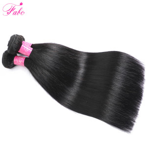 Image 3 - Fabc Hair Brazilian Straight Hair Bundles With Closure Pre Plucked 3/4 Bundles Natural Black Non remy Human Hair Free Shipping