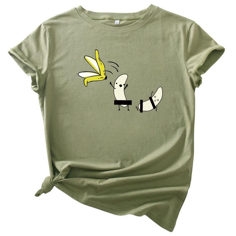 Summer Cotton Harajuku Fashion Cool Print Female T Shirt Leisure Streetwear Aesthetic TShirt Thin Section Comfortable Shirt
